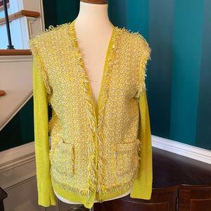 Lanvin Paris Cardigan Fringed Sweater